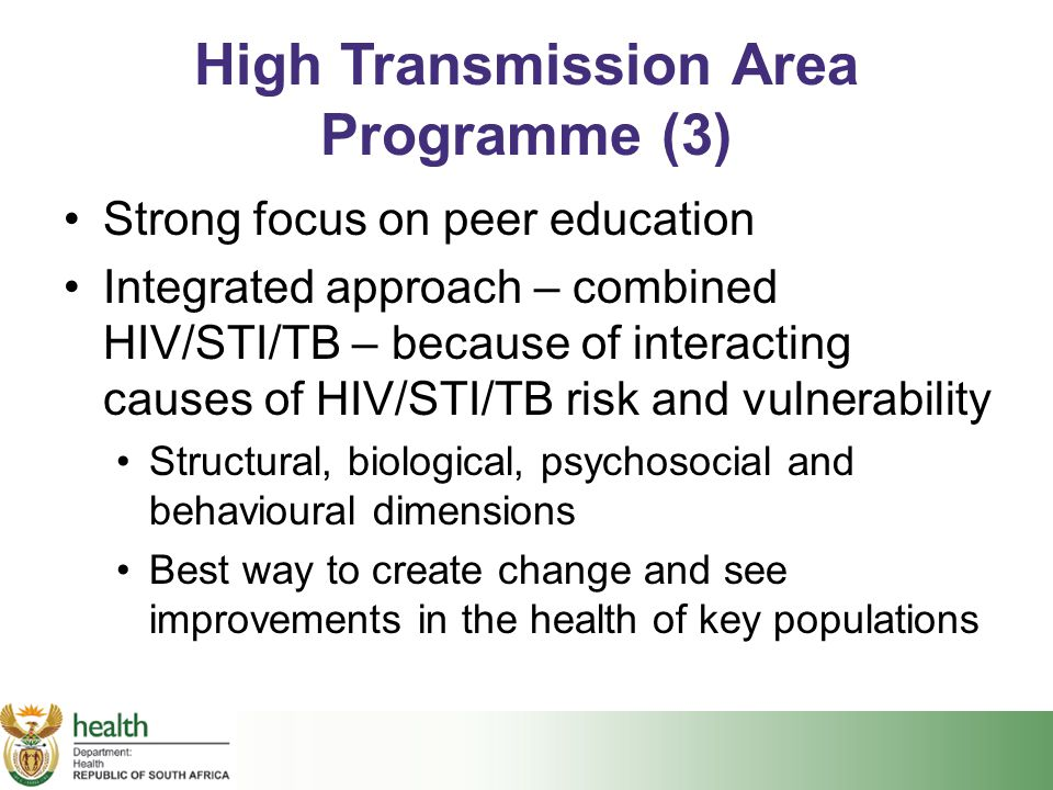 High Transmission Area Programme (3)