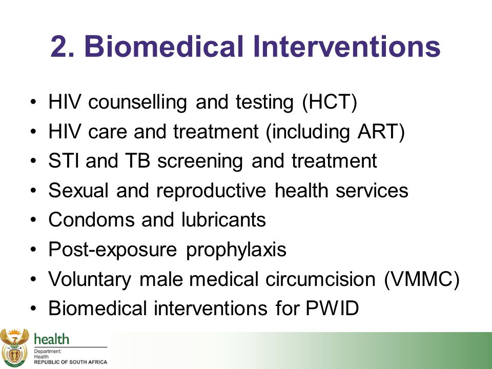 2. Biomedical Interventions