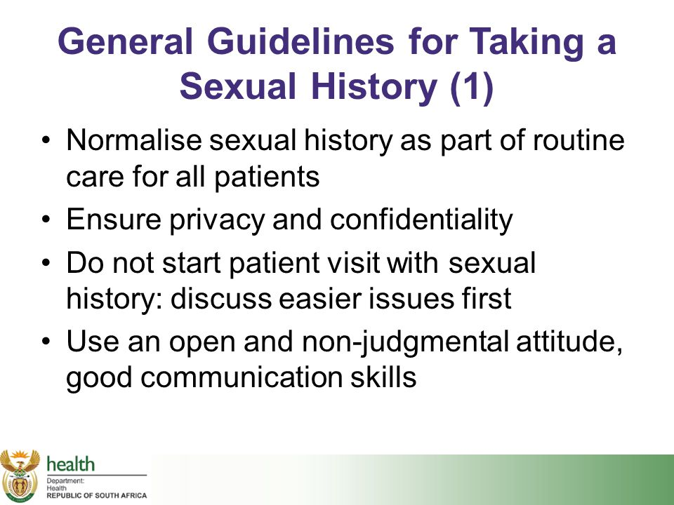 General Guidelines for Taking a Sexual History (1)