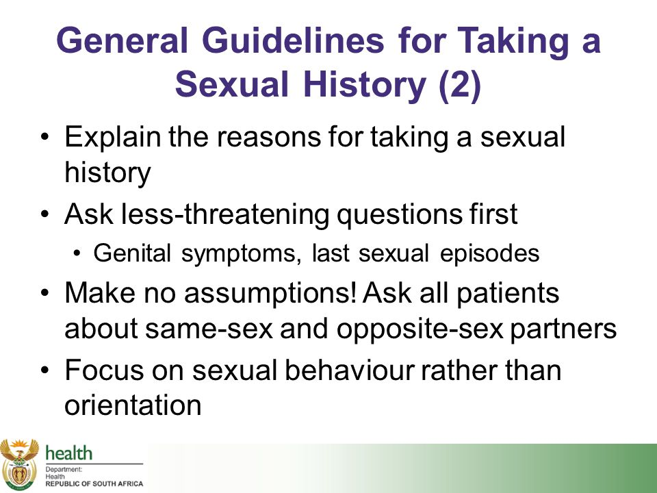 General Guidelines for Taking a Sexual History (2)