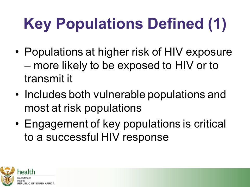 Key Populations Defined (1)