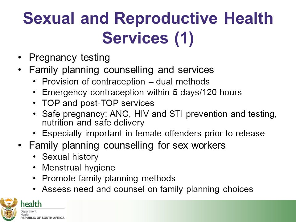 Sexual and Reproductive Health Services (1)