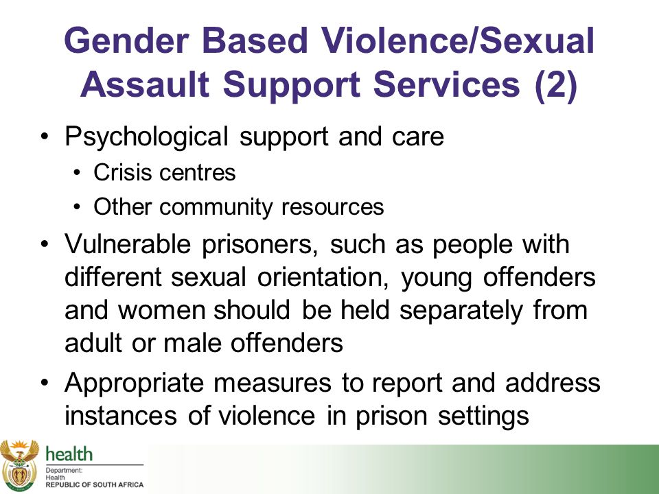 Gender Based Violence/Sexual Assault Support Services (2)