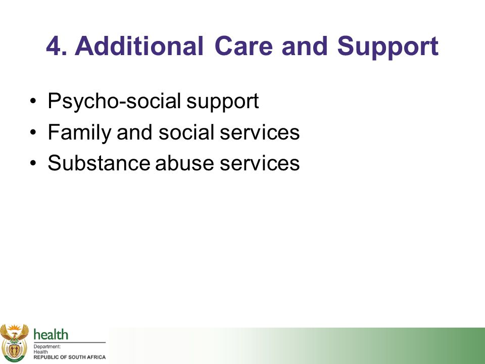 4. Additional Care and Support