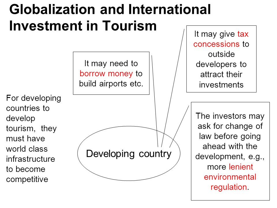 Globalization and International Investment in Tourism