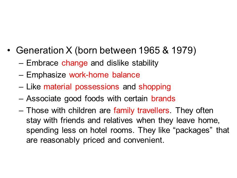 Generation X (born between 1965 & 1979)
