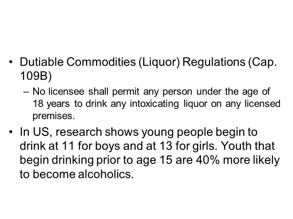 Dutiable Commodities (Liquor) Regulations (Cap. 109B)