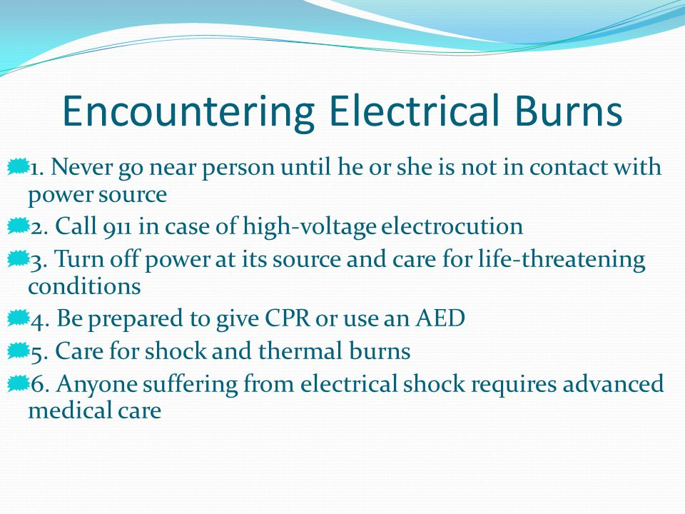 Encountering Electrical Burns
