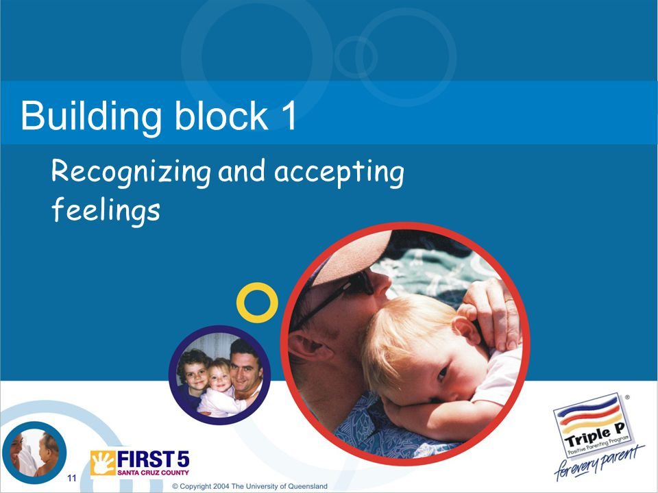 Building block 1 Recognizing and accepting feelings