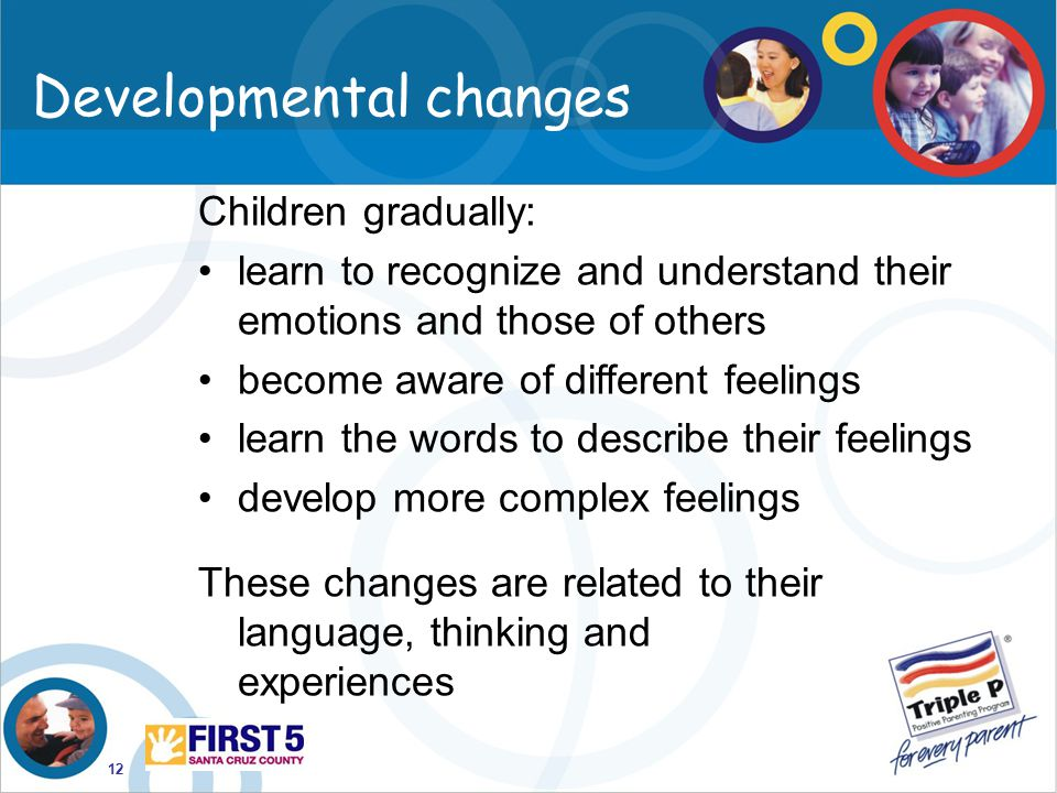 Developmental changes