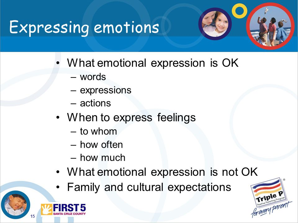 Expressing emotions What emotional expression is OK