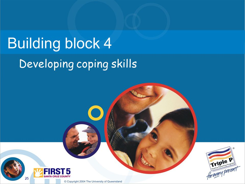 Building block 4 Developing coping skills