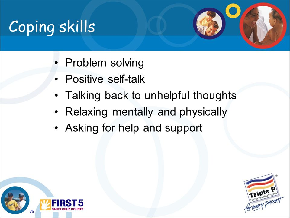 Coping skills Problem solving Positive self-talk