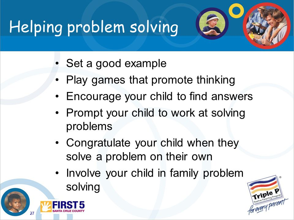 how to help your child solve problems