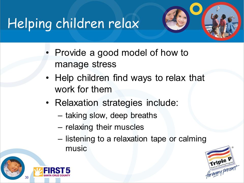 Helping children relax
