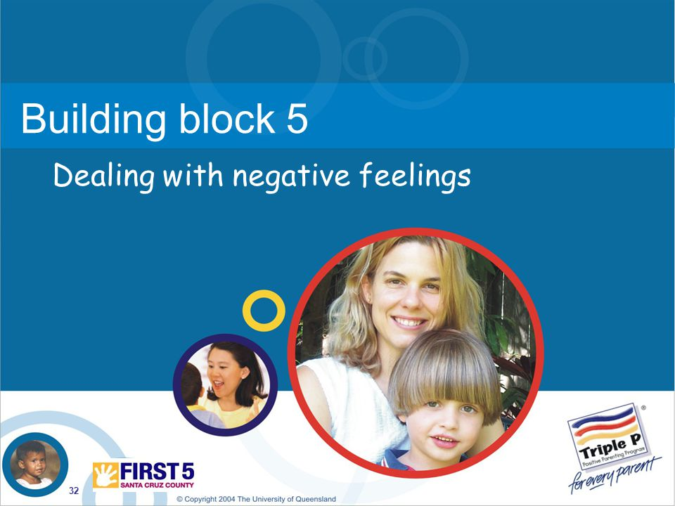 Building block 5 Dealing with negative feelings