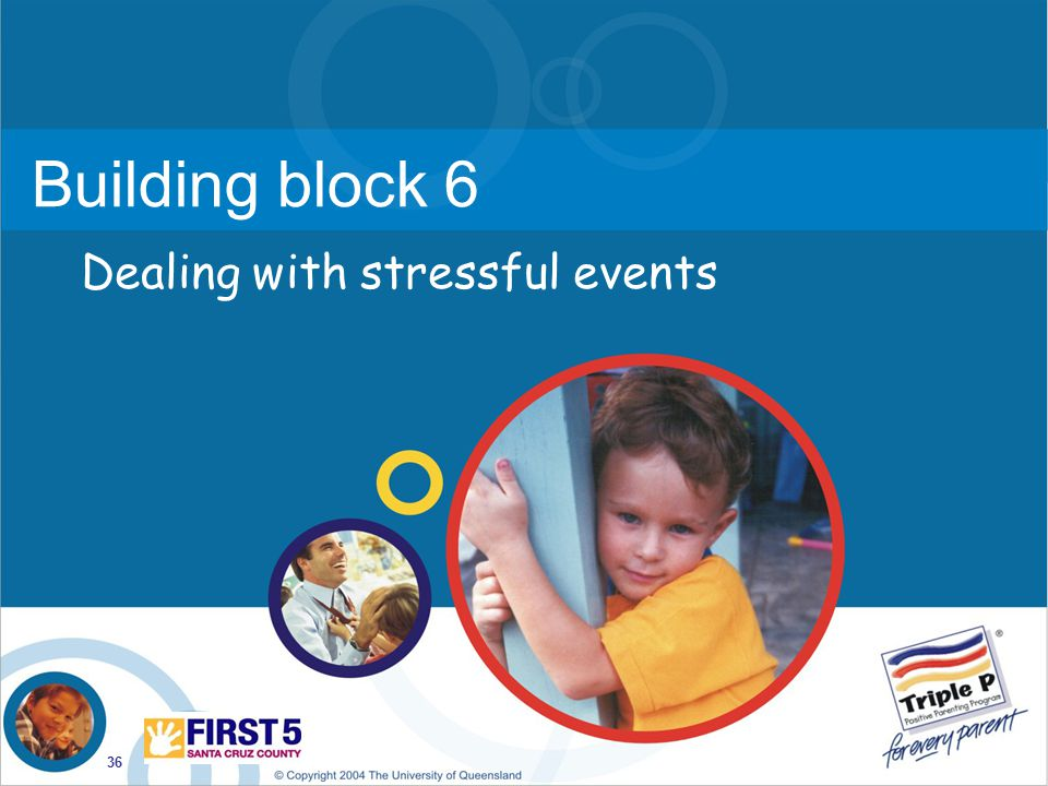 Building block 6 Dealing with stressful events