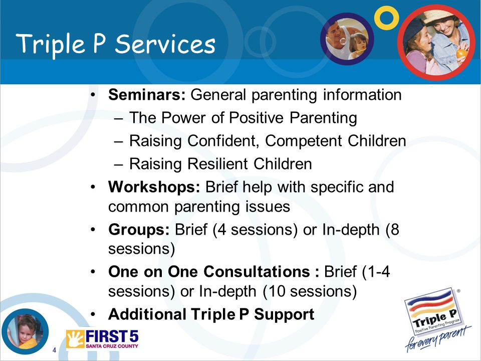 Triple P Services Seminars: General parenting information
