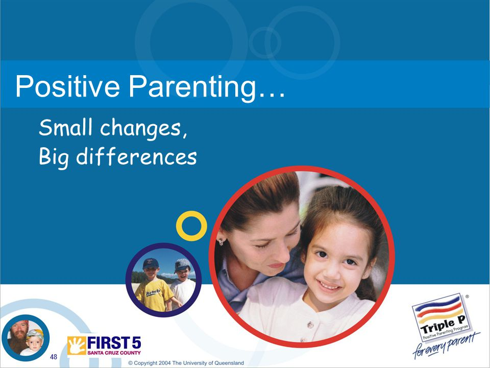 Positive Parenting… Small changes, Big differences