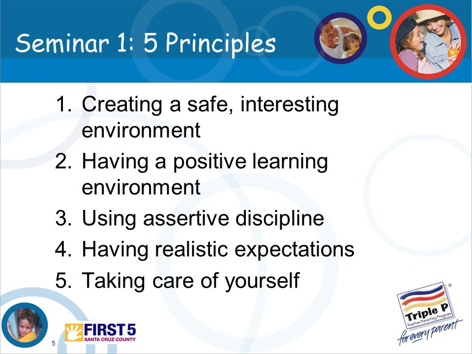 Seminar 1: 5 Principles Creating a safe, interesting environment