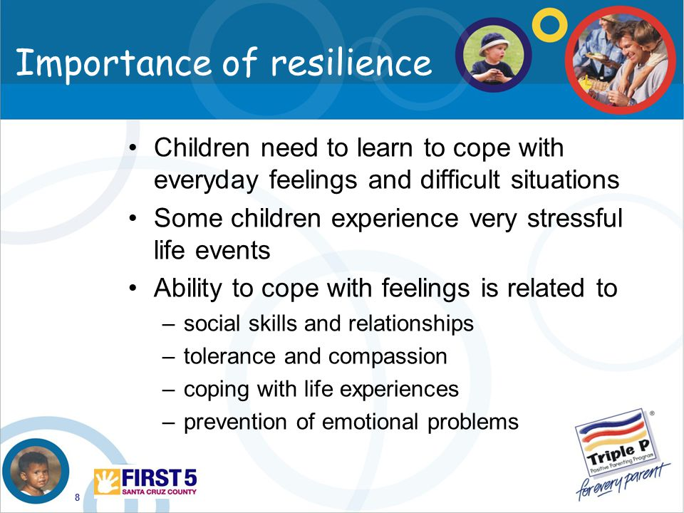 the importance of resilience in the lives of people Draw on evidence that focuses on pre-late life resilience, ecological resilience,   (2013) highlight the role of information seeking amongst resilient people, and.