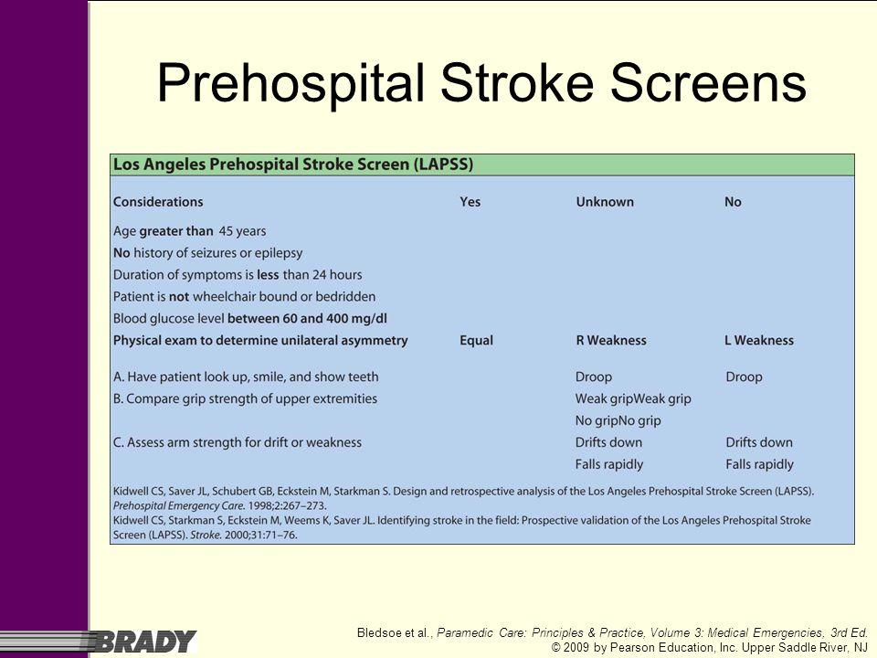 Prehospital Stroke Screens