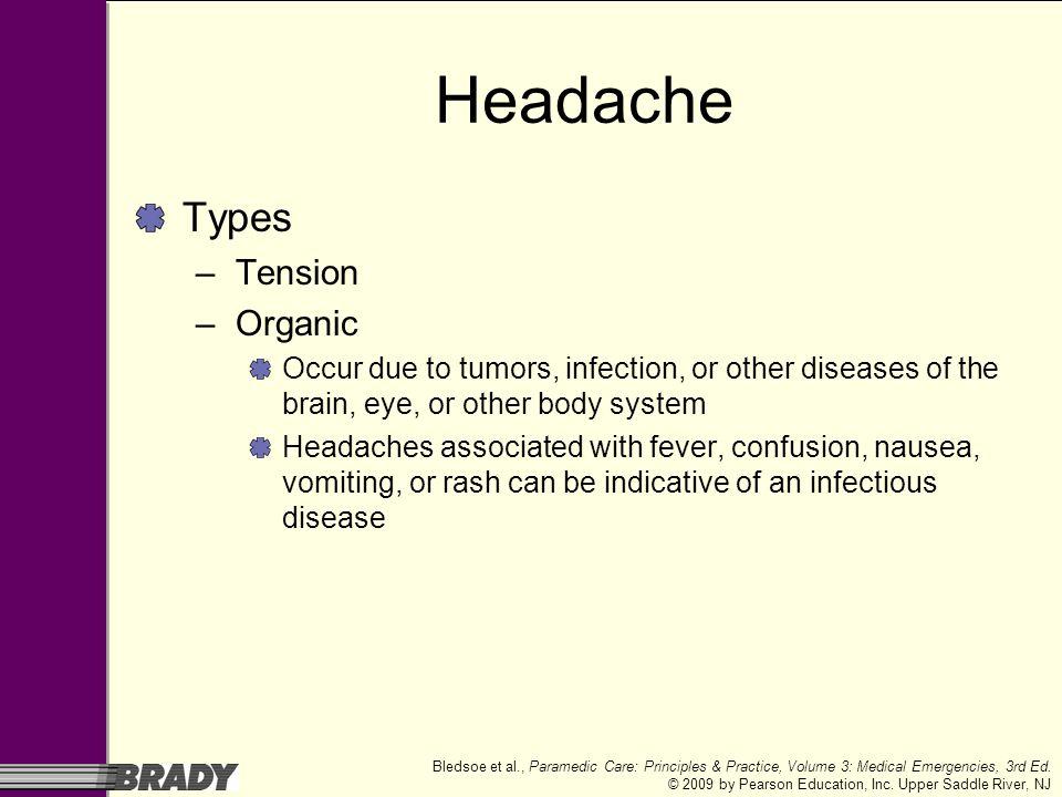 Headache Types Tension Organic