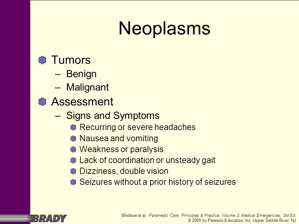 Neoplasms Tumors Assessment Benign Malignant Signs and Symptoms
