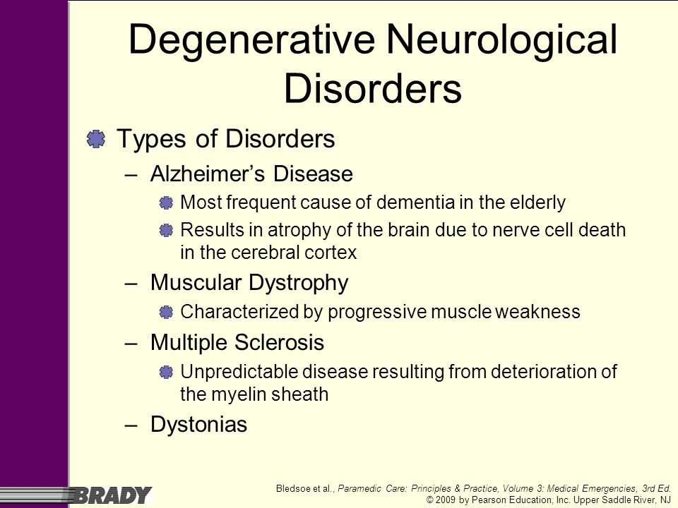 Degenerative Neurological Disorders