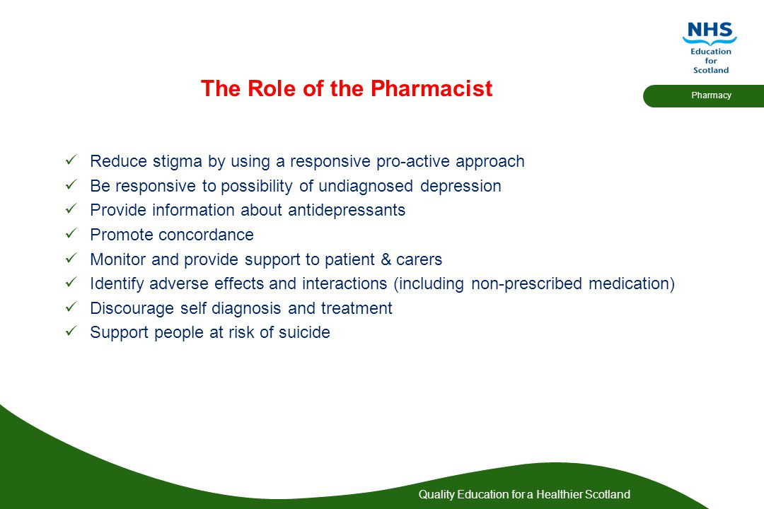 The Role of the Pharmacist