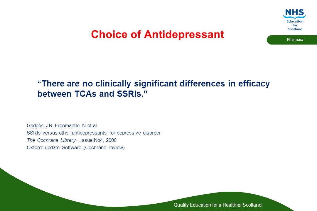 Choice of Antidepressant