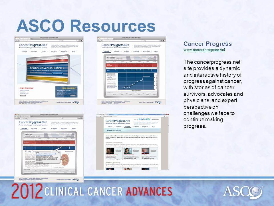ASCO Resources Cancer Progress