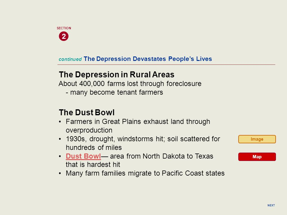 The Depression in Rural Areas