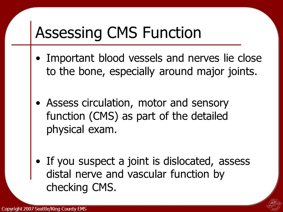 Assessing CMS Function