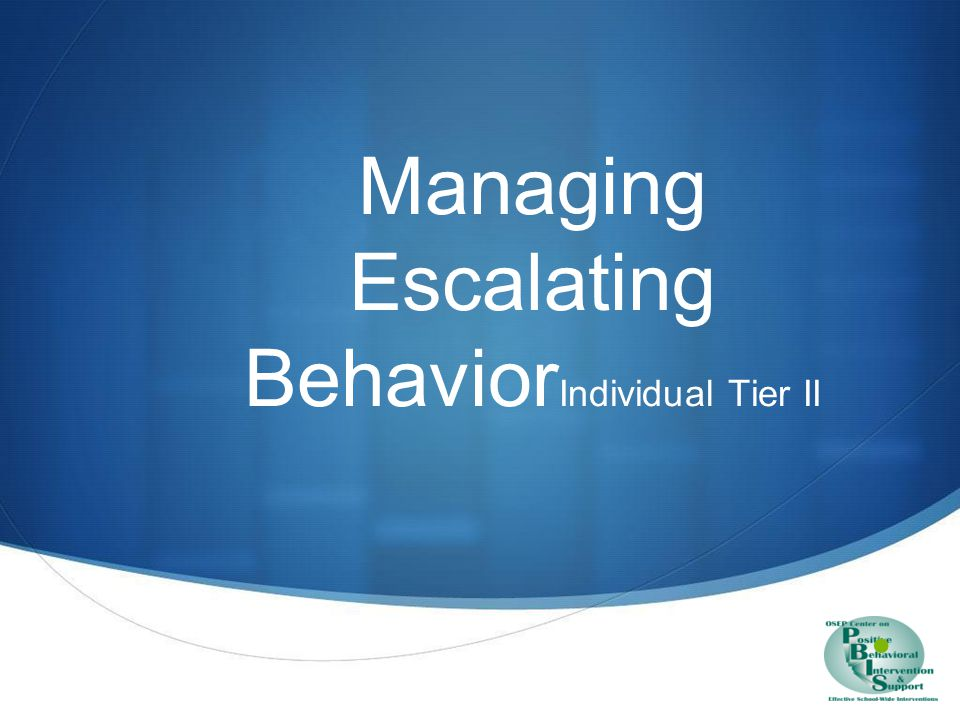 Enhance understanding & ways of escalating behavior sequences