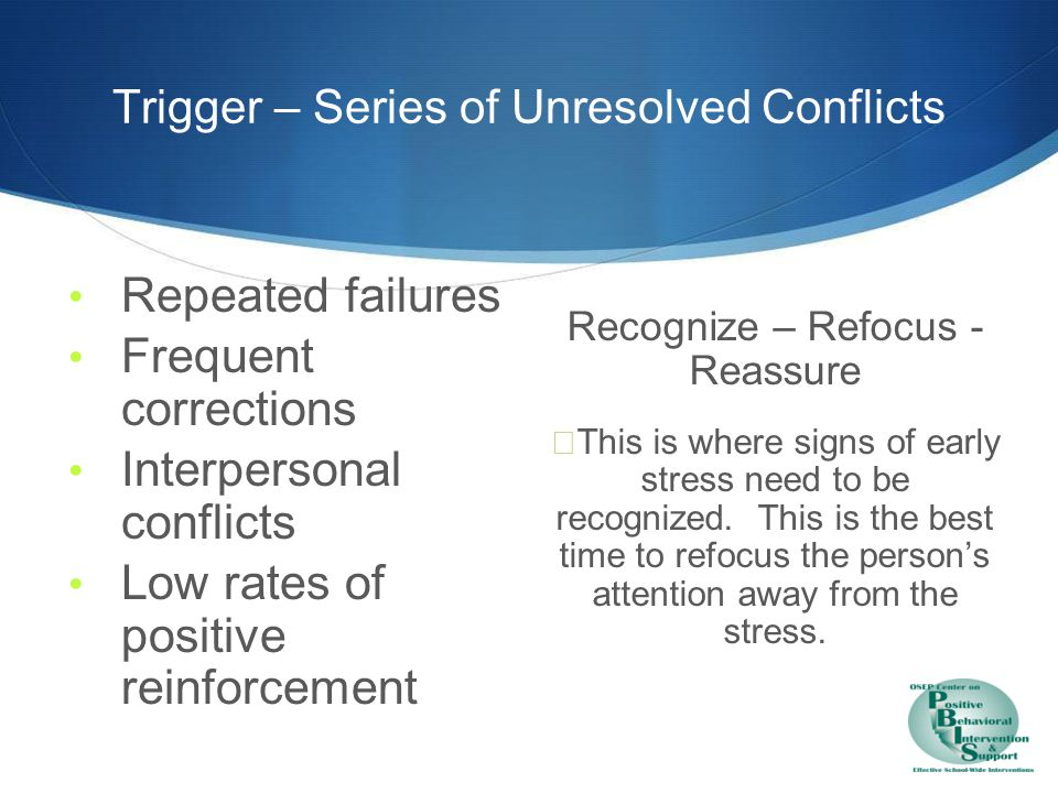 Trigger – Prevention & Redirection