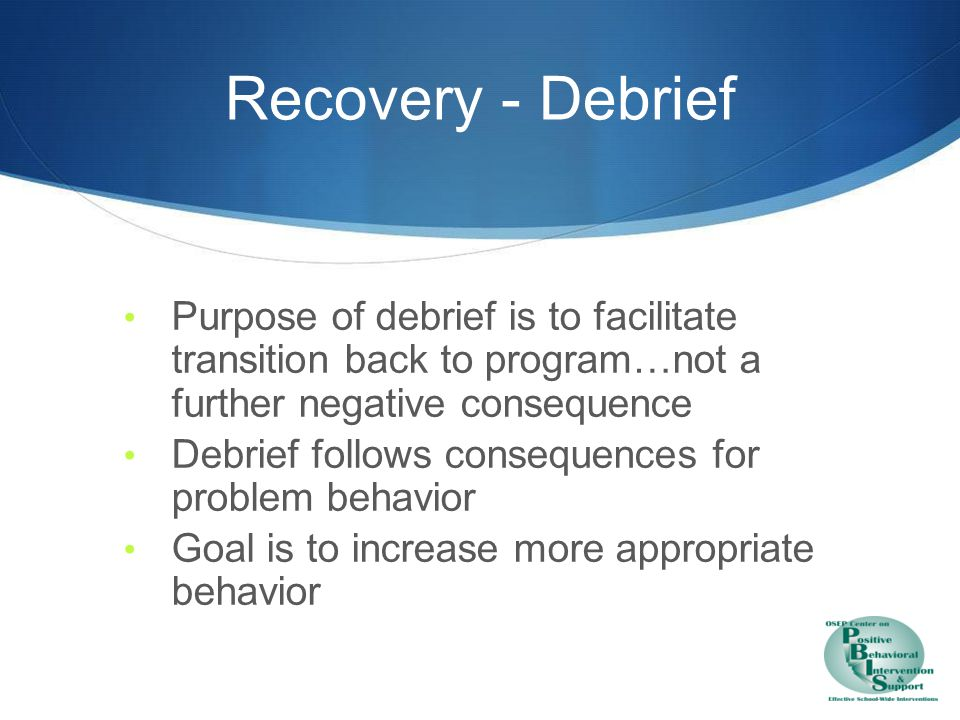 Recovery Processing & Problem Solving
