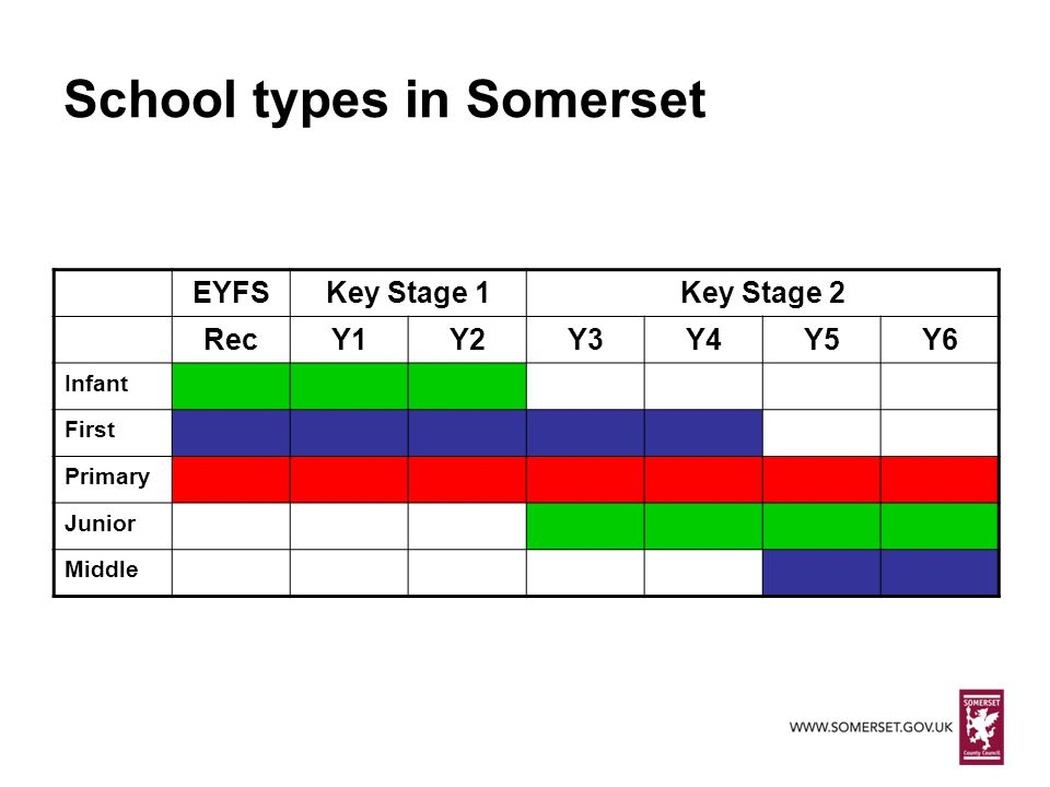 School types in Somerset