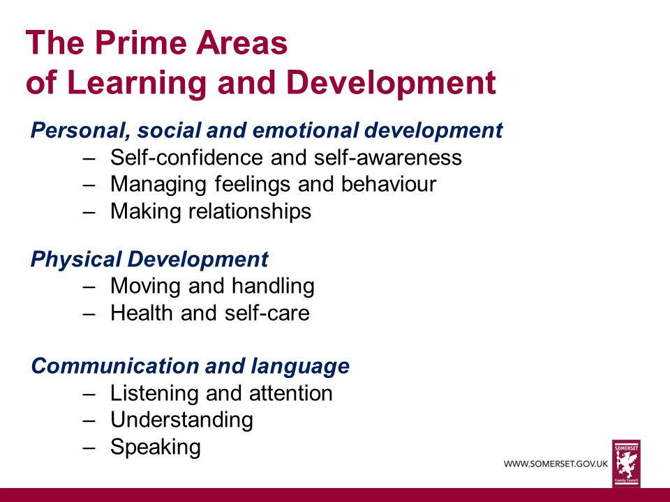 The Prime Areas of Learning and Development