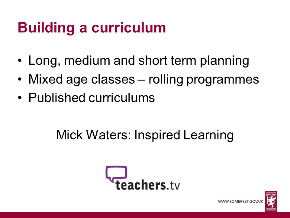 Mick Waters: Inspired Learning