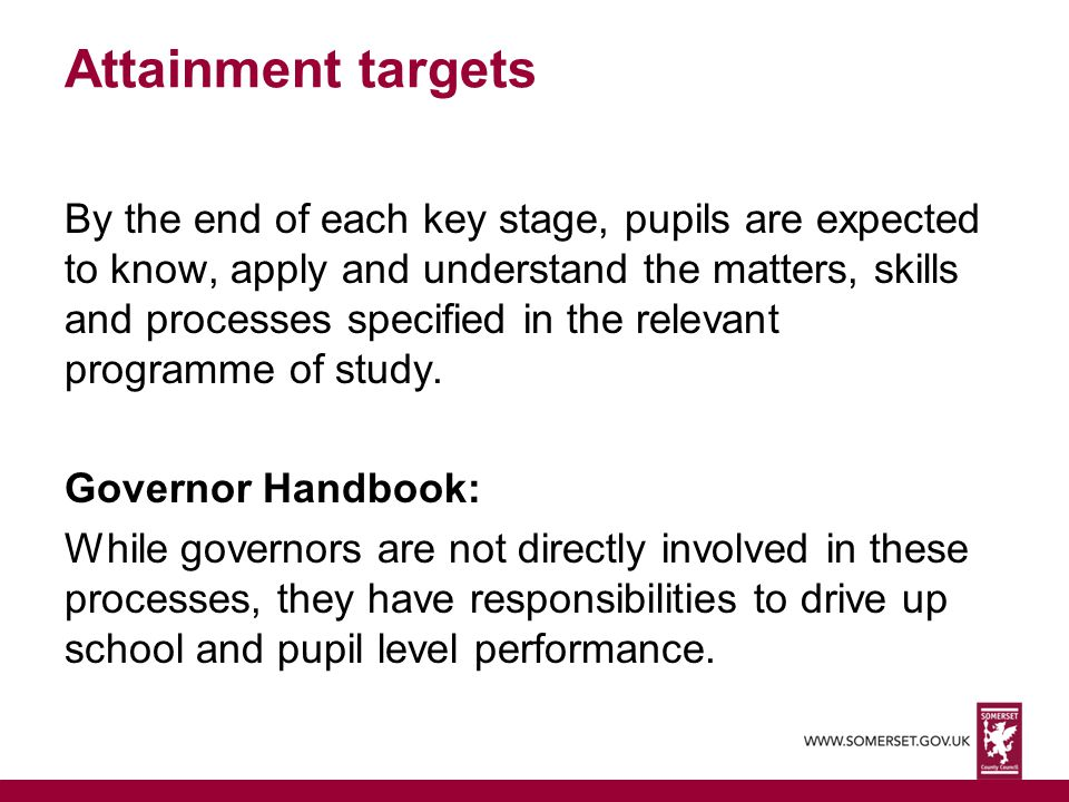 Attainment targets