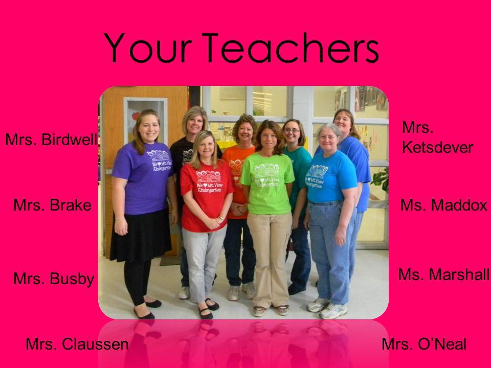 Your Teachers Mrs. Ketsdever Mrs. Birdwell Mrs. Brake Ms. Maddox
