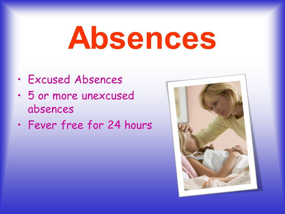 Absences Excused Absences 5 or more unexcused absences