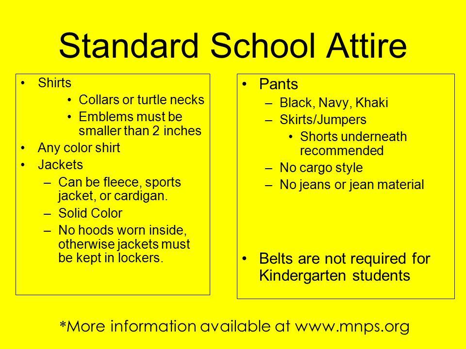 Standard School Attire