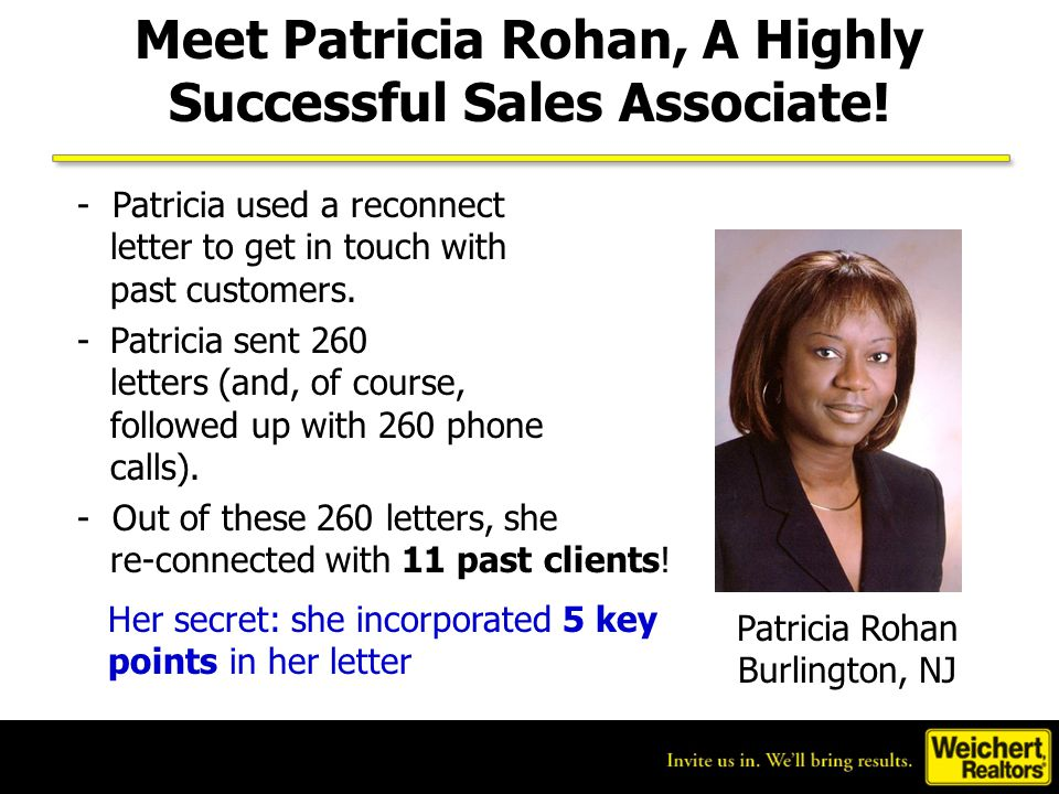Meet Patricia Rohan, A Highly Successful Sales Associate!