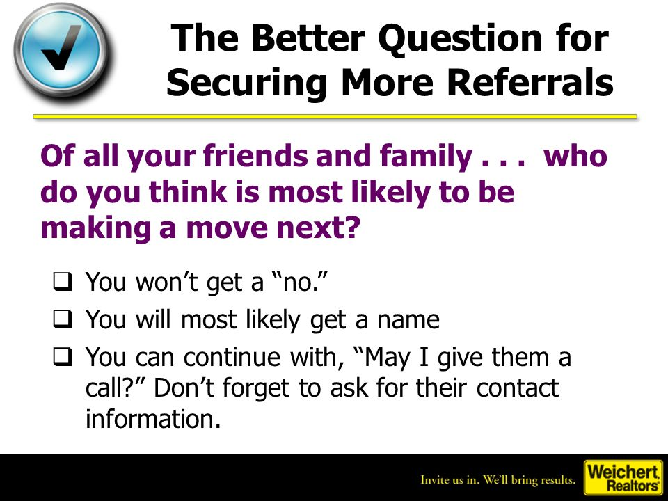 The Better Question for Securing More Referrals