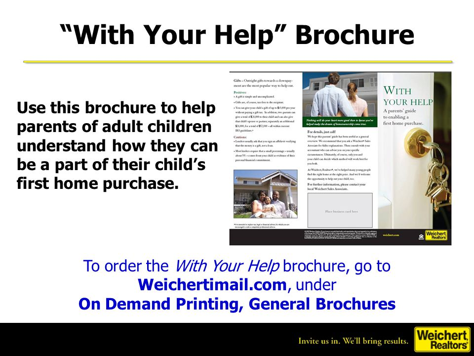 With Your Help Brochure