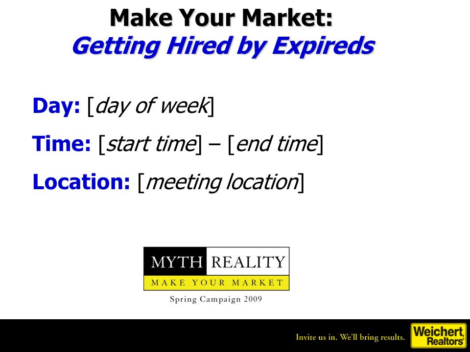 Getting Hired by Expireds