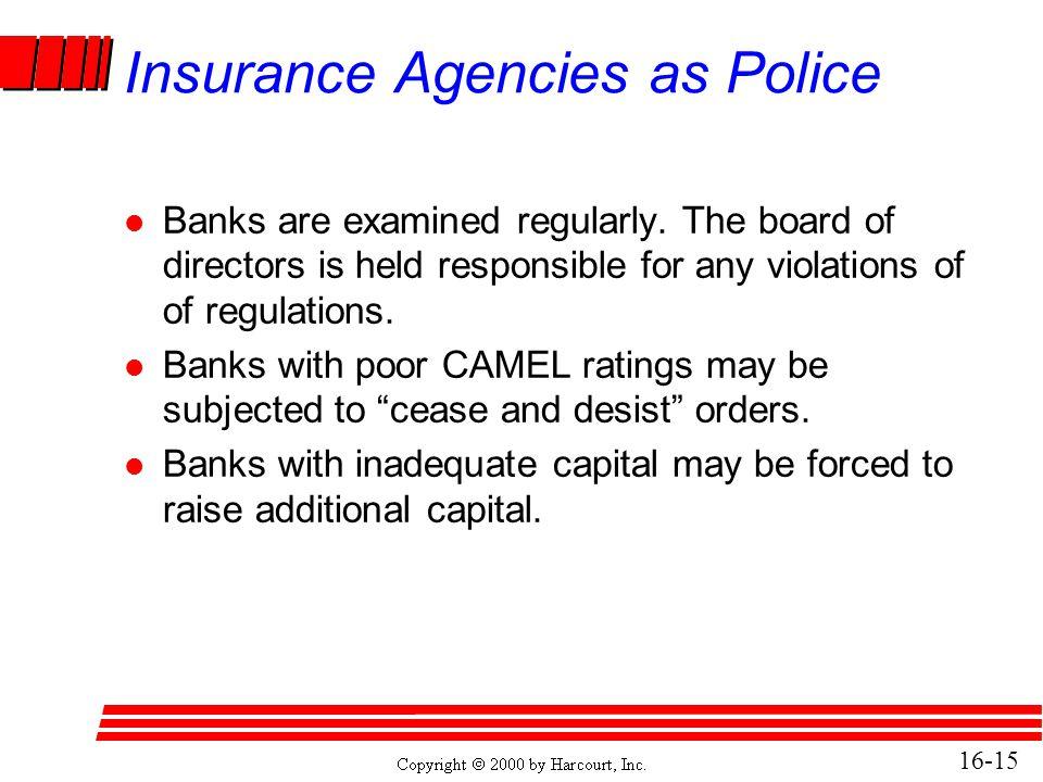 Insurance Agencies as Police