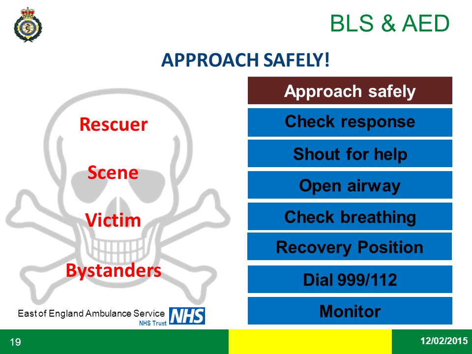 APPROACH SAFELY! Rescuer Scene Victim Bystanders